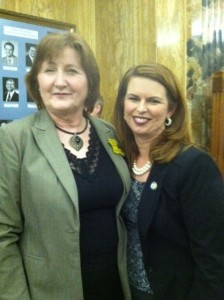 Diana Bulot and Louisiana Representative Julie Stokes