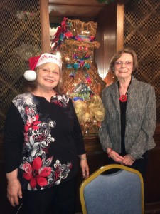 President Harriet and our December Tea Chairman Rose Mogabgab. Thanks go out to Rose for the Wonderful work she did making the arrangements and designing the invitations for this Joyous Event!